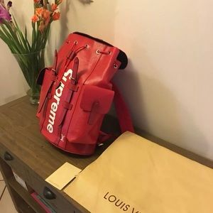 supreme x Lv backpack